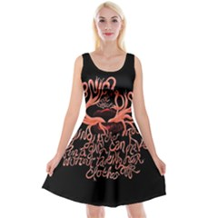 Panic At The Disco   Lying Is The Most Fun A Girl Have Without Taking Her Clothes Reversible Velvet Sleeveless Dress by Samandel