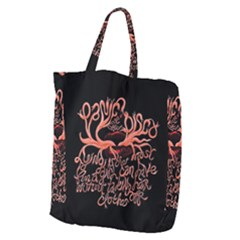 Panic At The Disco   Lying Is The Most Fun A Girl Have Without Taking Her Clothes Giant Grocery Zipper Tote by Samandel