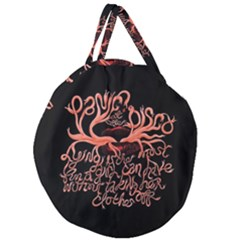 Panic At The Disco   Lying Is The Most Fun A Girl Have Without Taking Her Clothes Giant Round Zipper Tote by Samandel