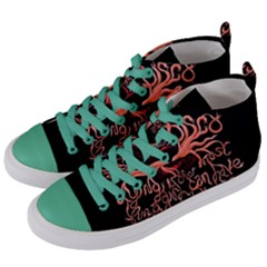 Panic At The Disco   Lying Is The Most Fun A Girl Have Without Taking Her Clothes Women s Mid Top Canvas Sneakers by Samandel