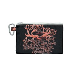 Panic At The Disco   Lying Is The Most Fun A Girl Have Without Taking Her Clothes Canvas Cosmetic Bag (small) by Samandel