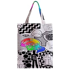 Panic ! At The Disco Zipper Classic Tote Bag by Samandel