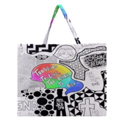 Panic ! At The Disco Zipper Large Tote Bag by Samandel