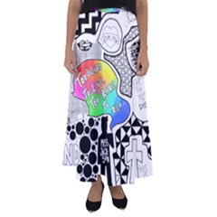 Panic ! At The Disco Flared Maxi Skirt