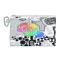 Panic ! At The Disco Canvas Cosmetic Bag (large)
