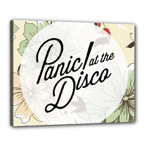 Panic At The Disco Beautifull Floral Canvas 20  X 16