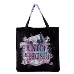 Panic At The Disco Art Grocery Tote Bag by Samandel