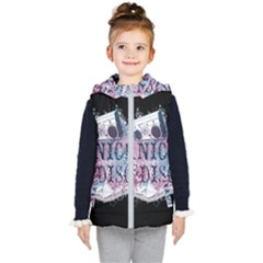 Panic At The Disco Art Kid s Hooded Puffer Vest