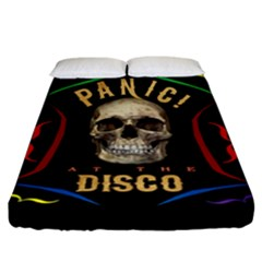 Panic At The Disco Poster Fitted Sheet (california King Size) by Samandel