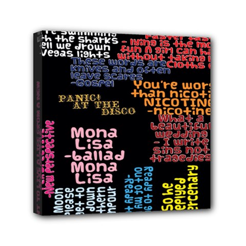 Panic At The Disco Northern Downpour Lyrics Metrolyrics Canvas Travel Bag by Samandel
