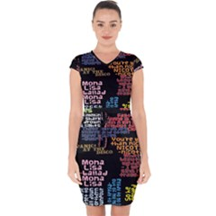 Panic At The Disco Northern Downpour Lyrics Metrolyrics Capsleeve Drawstring Dress  by Samandel