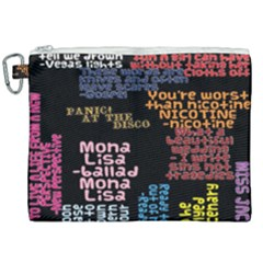 Panic At The Disco Northern Downpour Lyrics Metrolyrics Canvas Cosmetic Bag (xxl) by Samandel