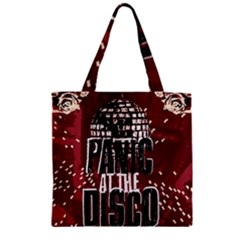 Panic At The Disco Poster Zipper Grocery Tote Bag by Samandel