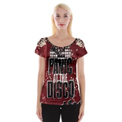 Panic At The Disco Poster Cap Sleeve Tops by Samandel