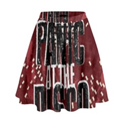 Panic At The Disco Poster High Waist Skirt