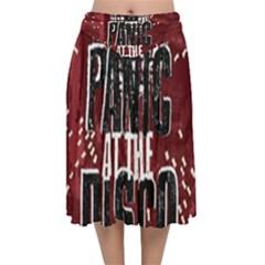 Panic At The Disco Poster Velvet Flared Midi Skirt by Samandel