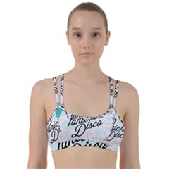 Panic At The Disco Quote Line Them Up Sports Bra by Samandel