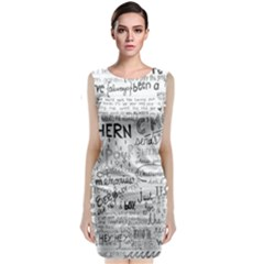 Panic At The Disco Lyrics Classic Sleeveless Midi Dress
