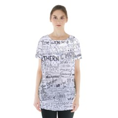 Panic At The Disco Lyrics Skirt Hem Sports Top by Samandel