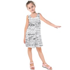 Panic At The Disco Lyrics Kids  Sleeveless Dress by Samandel