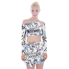 Panic! At The Disco Off Shoulder Top With Mini Skirt Set