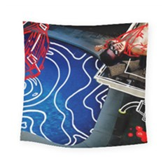Panic! At The Disco Released Death Of A Bachelor Square Tapestry (small) by Samandel