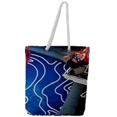 Panic! At The Disco Released Death Of A Bachelor Full Print Rope Handle Tote (large) by Samandel