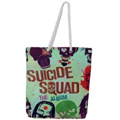 Panic! At The Disco Suicide Squad The Album Full Print Rope Handle Tote (large) by Samandel