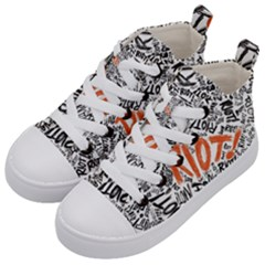 Paramore Is An American Rock Band Kid s Mid Top Canvas Sneakers by Samandel