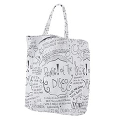 Panic! At The Disco Lyrics Giant Grocery Zipper Tote by Samandel