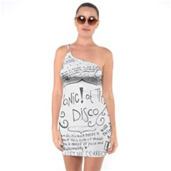 Panic! At The Disco Lyrics One Soulder Bodycon Dress