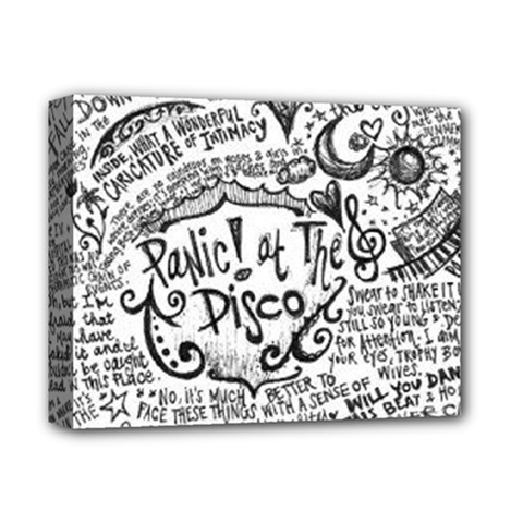 Panic! At The Disco Lyric Quotes Deluxe Canvas 14  X 11
