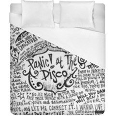 Panic! At The Disco Lyric Quotes Duvet Cover (california King Size) by Samandel