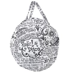 Panic! At The Disco Lyric Quotes Giant Round Zipper Tote by Samandel