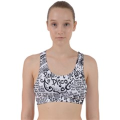 Panic! At The Disco Lyric Quotes Back Weave Sports Bra by Samandel