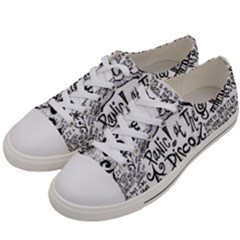 Panic! At The Disco Lyric Quotes Women s Low Top Canvas Sneakers by Samandel
