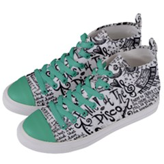 Panic! At The Disco Lyric Quotes Women s Mid Top Canvas Sneakers by Samandel