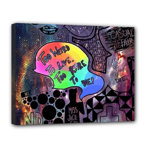Panic! At The Disco Galaxy Nebula Canvas 14  X 11  by Samandel