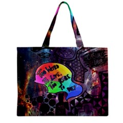 Panic! At The Disco Galaxy Nebula Zipper Mini Tote Bag by Samandel
