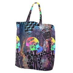 Panic! At The Disco Galaxy Nebula Giant Grocery Zipper Tote by Samandel