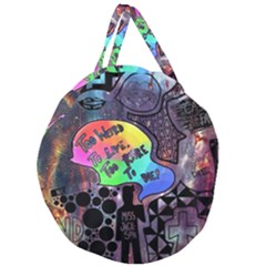 Panic! At The Disco Galaxy Nebula Giant Round Zipper Tote by Samandel