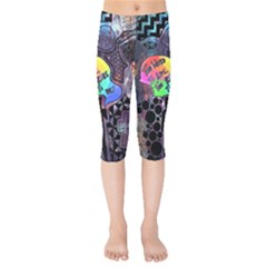 Panic! At The Disco Galaxy Nebula Kids  Capri Leggings