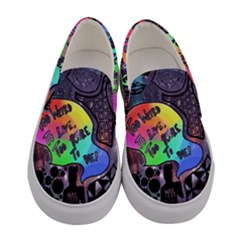 Panic! At The Disco Galaxy Nebula Women s Canvas Slip Ons