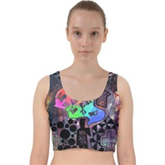 Panic! At The Disco Galaxy Nebula Velvet Racer Back Crop Top