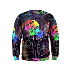 Panic! At The Disco Galaxy Nebula Kids  Sweatshirt by Samandel