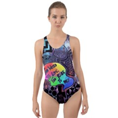 Panic! At The Disco Galaxy Nebula Cut Out Back One Piece Swimsuit