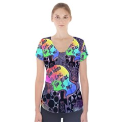 Panic! At The Disco Galaxy Nebula Short Sleeve Front Detail Top