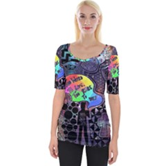 Panic! At The Disco Galaxy Nebula Wide Neckline Tee