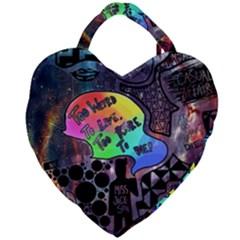 Panic! At The Disco Galaxy Nebula Giant Heart Shaped Tote