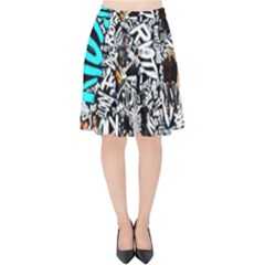 Panic! At The Disco College Velvet High Waist Skirt